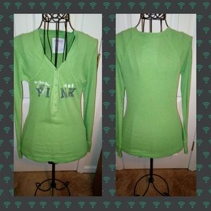 Victoria Secret Pink Green Top
